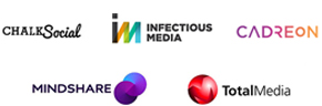 Online audiences clients - Chalk Social, Infectious Media, Cadreon, Mindshare & Total Media